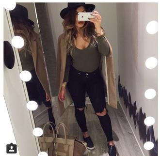 coat bag jeans shoes underwear hat t-shirt top