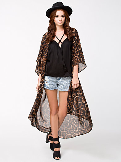 Long Kimono - Nly Trend - Brown/ Leopard Skin - Jumpers & Cardigans - Clothing - Women - Nelly.com Uk
