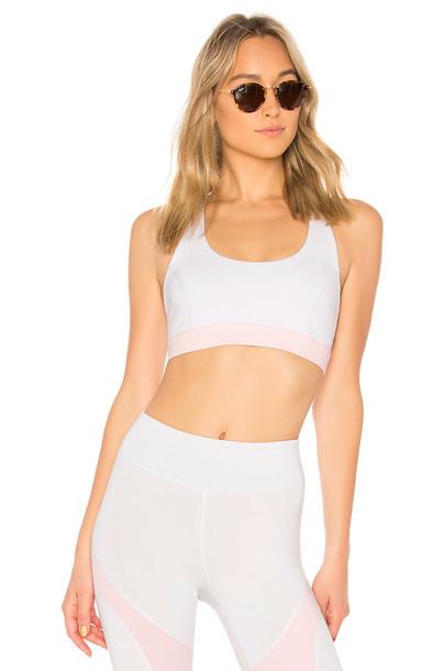 bra sports bra white underwear