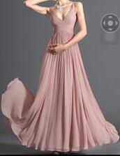 dress,blush pink,prom dress,gown