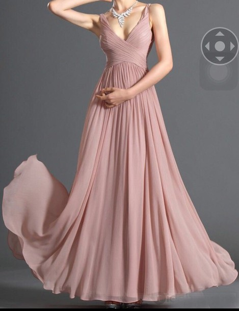 dress blush pink prom dress gown