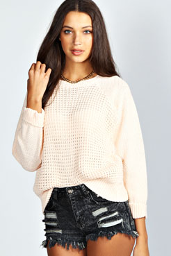 Lydia Slouchy Knit Jumper at boohoo.com