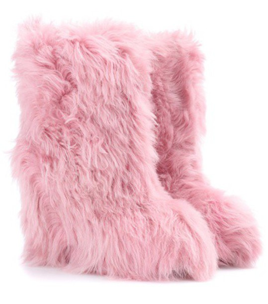 MONCLER GRENOBLE ankle boots pink shoes