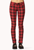 Grunge Plaid Skinny Pants | FOREVER21 - 2078251130