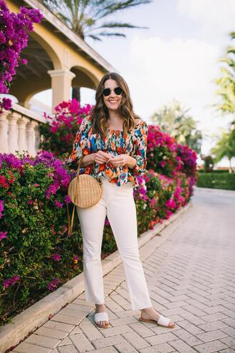 sequins and stripes blogger top sunglasses bag shoes jewels