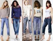 jeans,boyfriend jeans,blouse