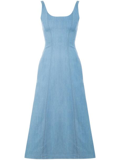 Gabriela Hearst dress sleeveless dress sleeveless women spandex cotton blue