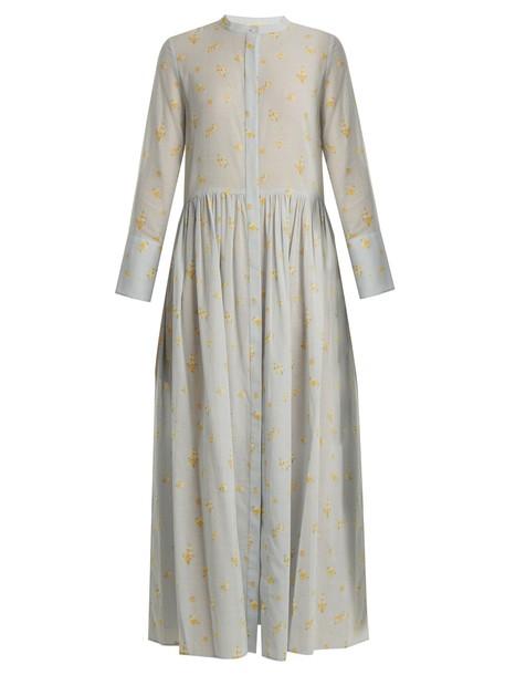 Brock Collection dress cotton print blue