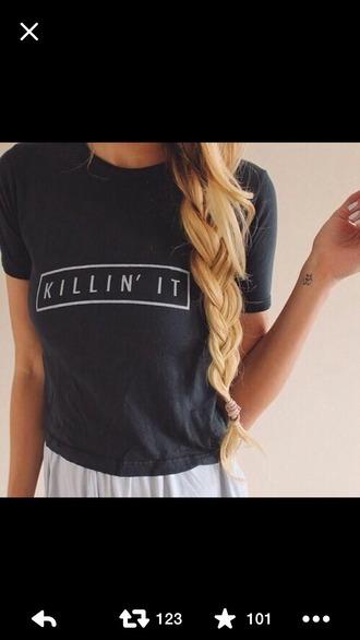 t-shirt slogan top