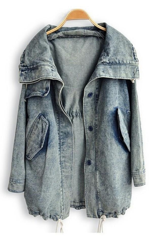 coat jacket vest en jeans delav? denim jacket denim baggy vintage top jeans grunge grey blue girl tumblr