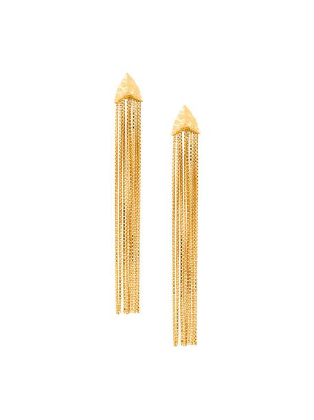 Rachel Entwistle women draped earrings gold yellow orange jewels