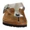 Birkenstock toe thong footbed steel silver birko flor