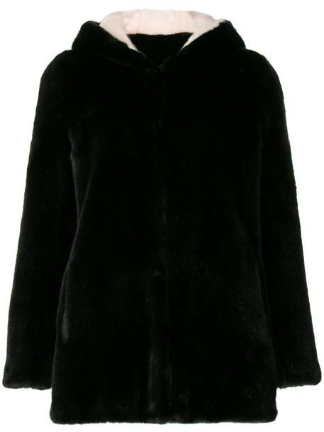 La Seine & Moi coat women black satin