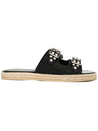 studded sandals flat sandals black shoes