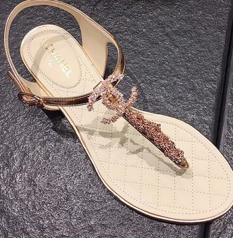 shoes flats flat sandals gold sandals