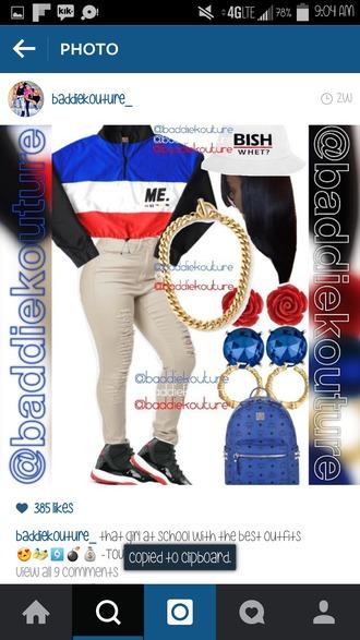 jacket retro throwback outfit baddiekouture_ outfit idea