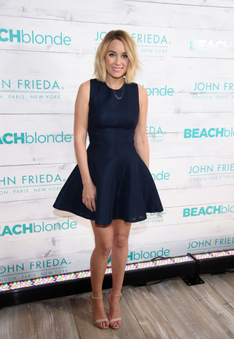 lauren conrad blogger dress jewels shoes