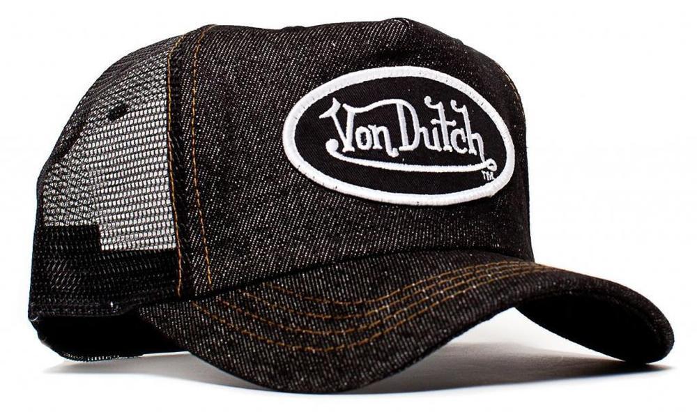 authentic brand new von dutch black denim cap hat trucker. Black Bedroom Furniture Sets. Home Design Ideas