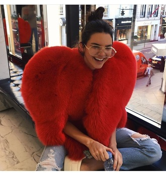coat kendall jenner furcoat