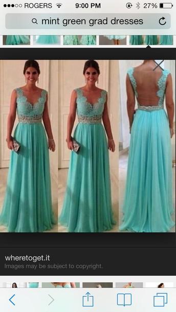 dress open back long teal dress