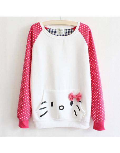 sweater wow hello kitty kitty luxury blogger girl woman