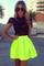 Sabo skirt  neon tulip skirt