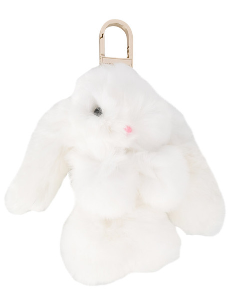 Yves Salomon bag charm fur women bag white
