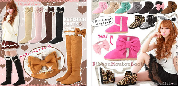 shoes boots winter boots knee boots kawaii boots cute bow boots gyaru brown boots bowknot boots long boots sweet boots bow boots brown bowknot bowtie shoes shoes cute cute bow shoes