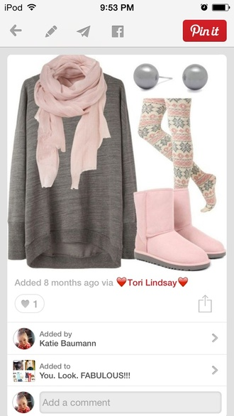 scarf leggings printed leggings oversized sweater tights printed tights boots