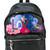 Saint Laurent love print backpack, Black, Leather