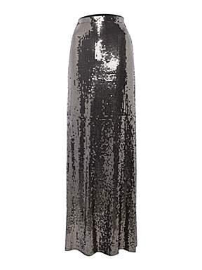 Michael michael kors sequin maxi skirt nearly black