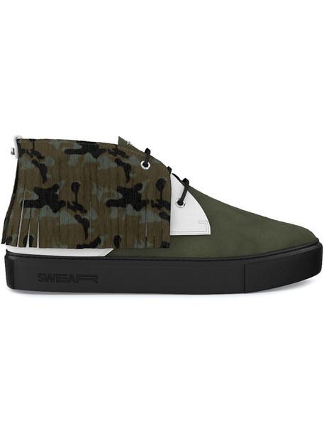 SWEAR women sneakers leather suede green shoes