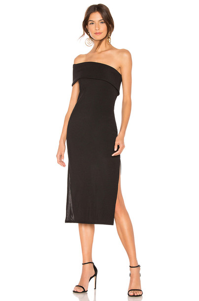 Privacy Please Gianna Midi Dress in black