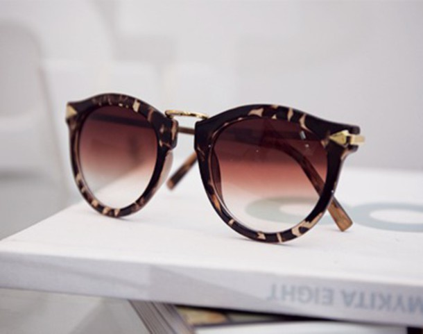 sunglasses motif panthere leopard print fashion summer summerstyle style home accessory round sunglasses accessories