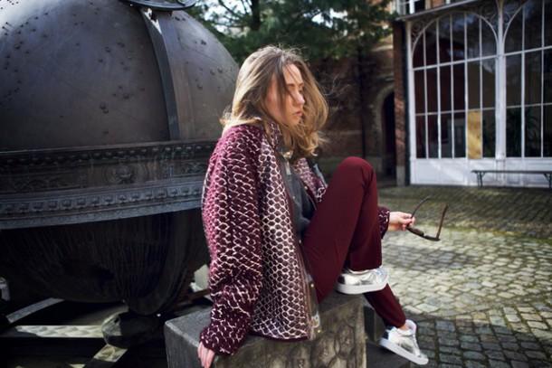vasilieva blogger jacket sweater pants shoes sunglasses