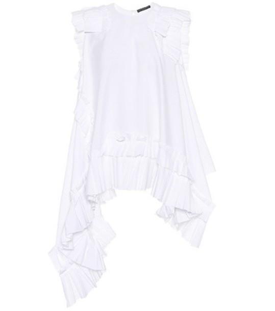 Alexander Mcqueen top sleeveless cotton white