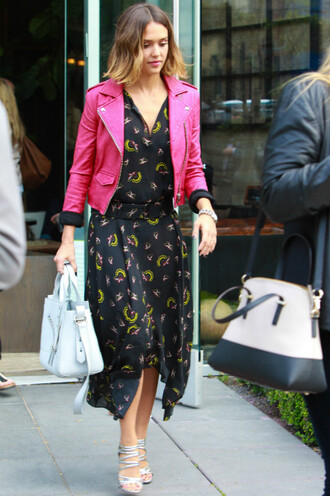 jacket dress midi dress jessica alba sandals