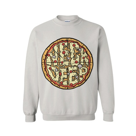 Pizza White Crewneck : Neck Deep