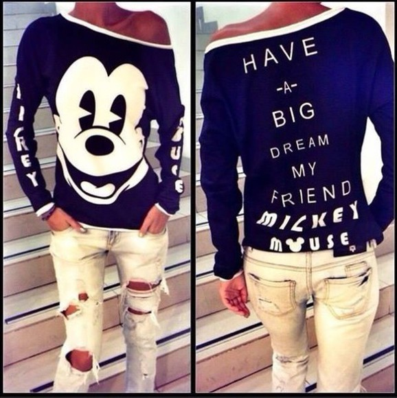shirt blouse mickey mouse