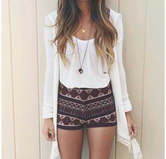 shorts summer grunge boho boho chic style vintage hippie blouse cardigan