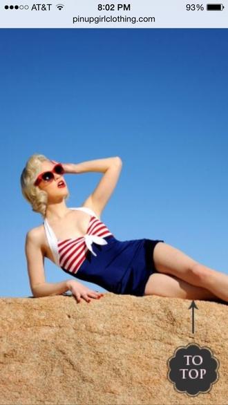 swimwear pinup girl clothing swimwear bettie sailor swimsuit glee