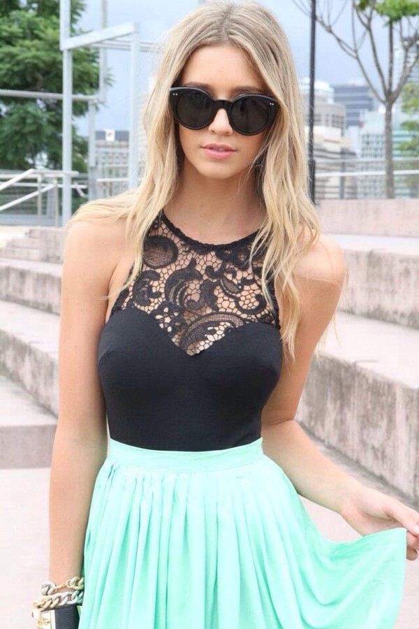 tank top black lace top