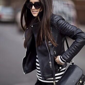 jacket black leather skirt black leather jacket leather biker jacket rock punk celebrity style sexy chic coat outerwear