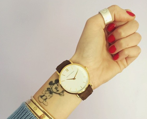 chiara ferragni watch daniel wellington jewels