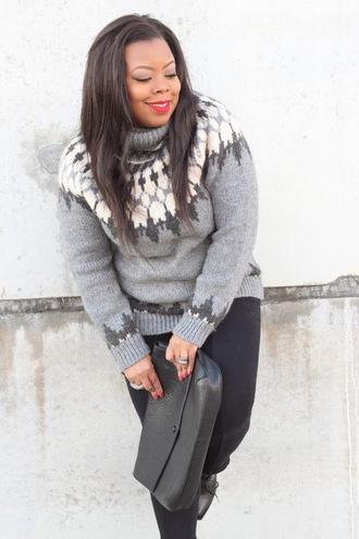 naja diamond blogger leggings grey sweater turtleneck
