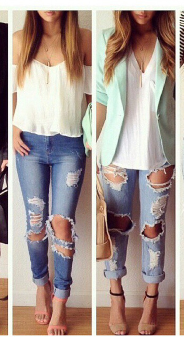 jeans jacket top jewels