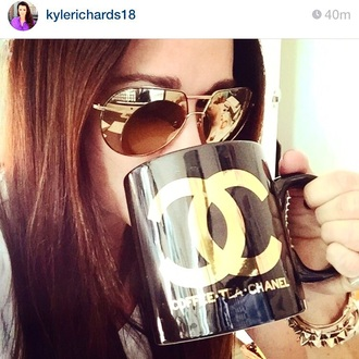 home accessory chanel jumbo mug kyle richards chanel mug chanel mug chanel black and gold coffee mug