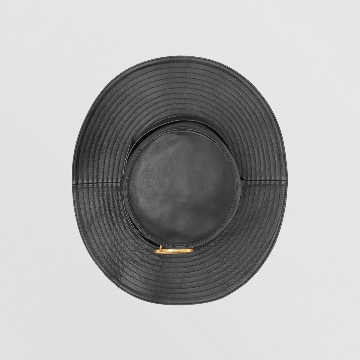 Monogram Motif Belt Detail Lambskin Desert Hat