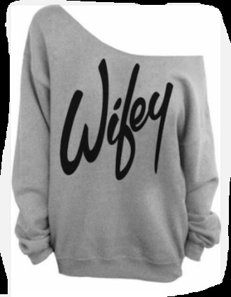 jumper wifey wife wedding honeymoon oversized sweater oversize