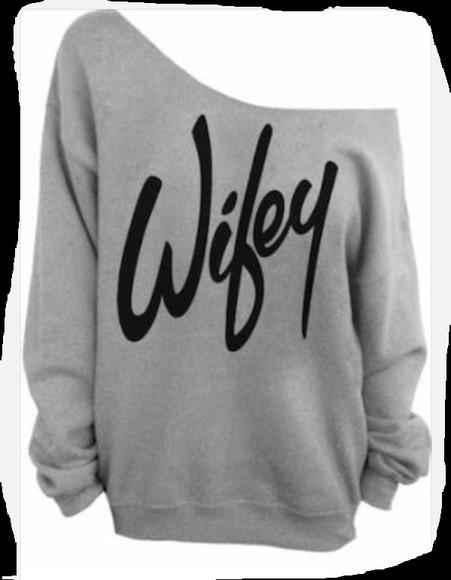 oversize oversized sweater jumper wifey wife wedding clothes honeymoon
